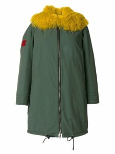 Gianfranco Ferré fur trim parka - Green