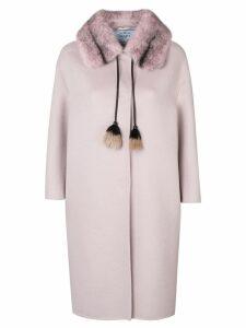 Prada tassel detail coat - Pink