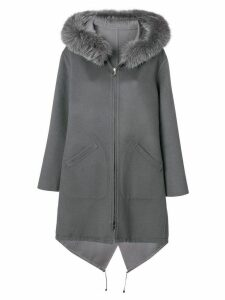 Manzoni 24 hooded longsleeved coat - Grey