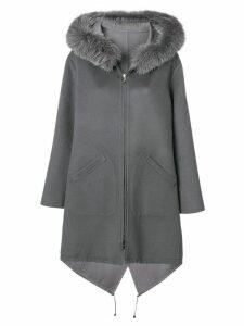 Manzoni 24 hooded longsleeved coat - Grey