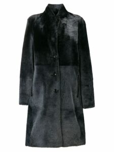 Joseph single-breasted fur coat - Black