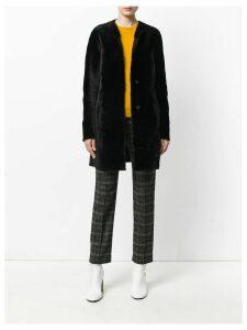Drome furry buttoned up coat - Black