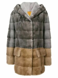 Blancha panelled coat - Grey