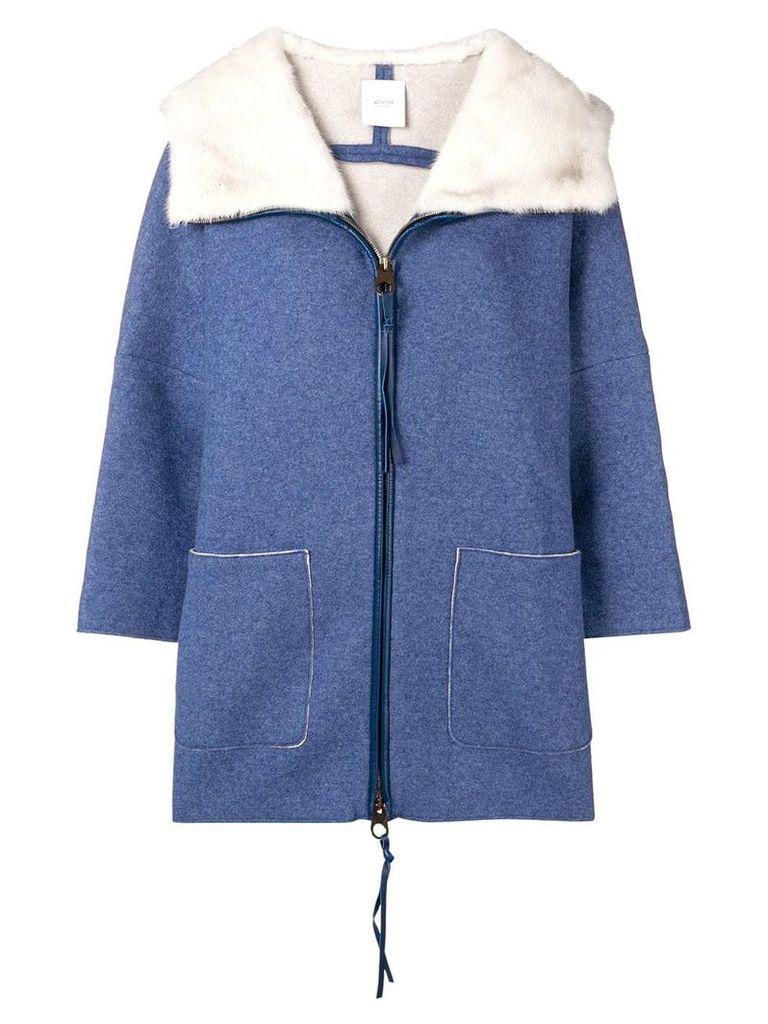 Agnona loose fitted coat - Blue