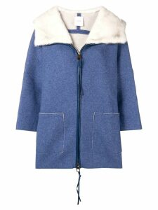 Agnona loose fitted coat - Blue
