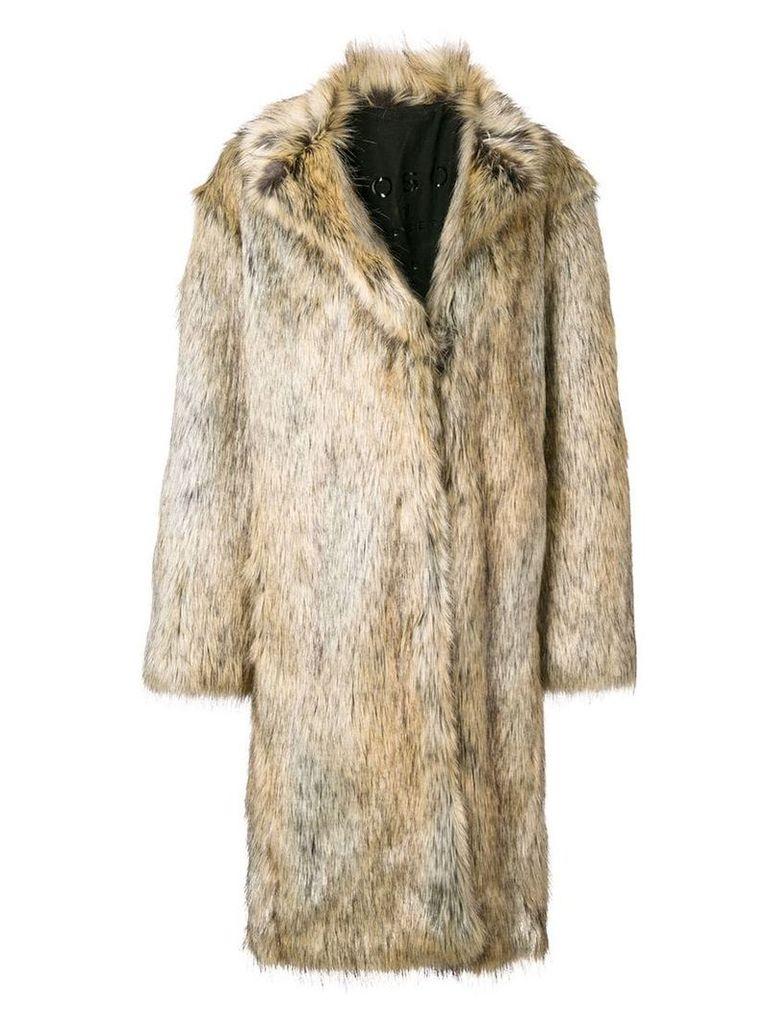 Philosophy Di Lorenzo Serafini maxi faux-fur coat - Brown