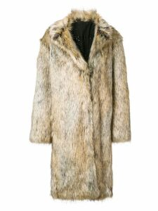 Philosophy Di Lorenzo Serafini maxi faux-fur coat - Brown