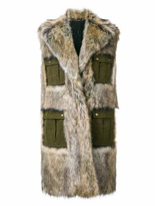 Philosophy Di Lorenzo Serafini sleeveless faux-fur coat - Brown