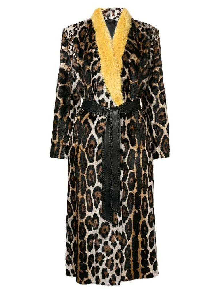 Liska leopard patterned coat - Brown