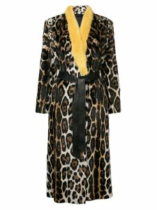 Liska leopard patterned coat - Brown