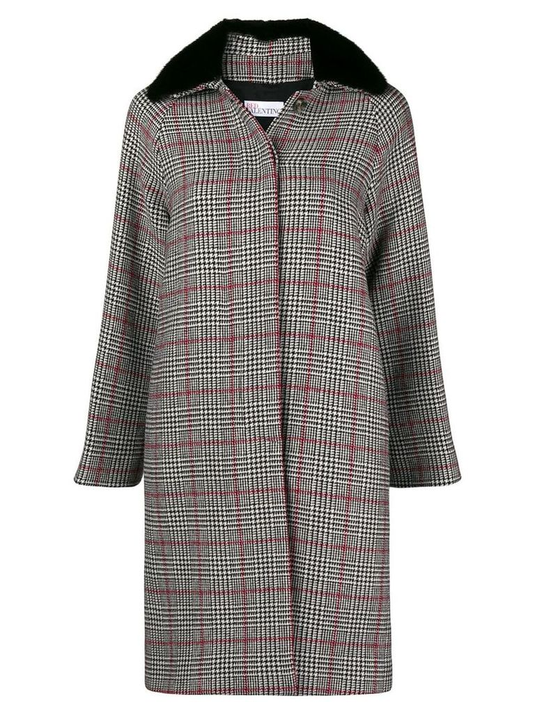 Red Valentino shearling coat - Grey