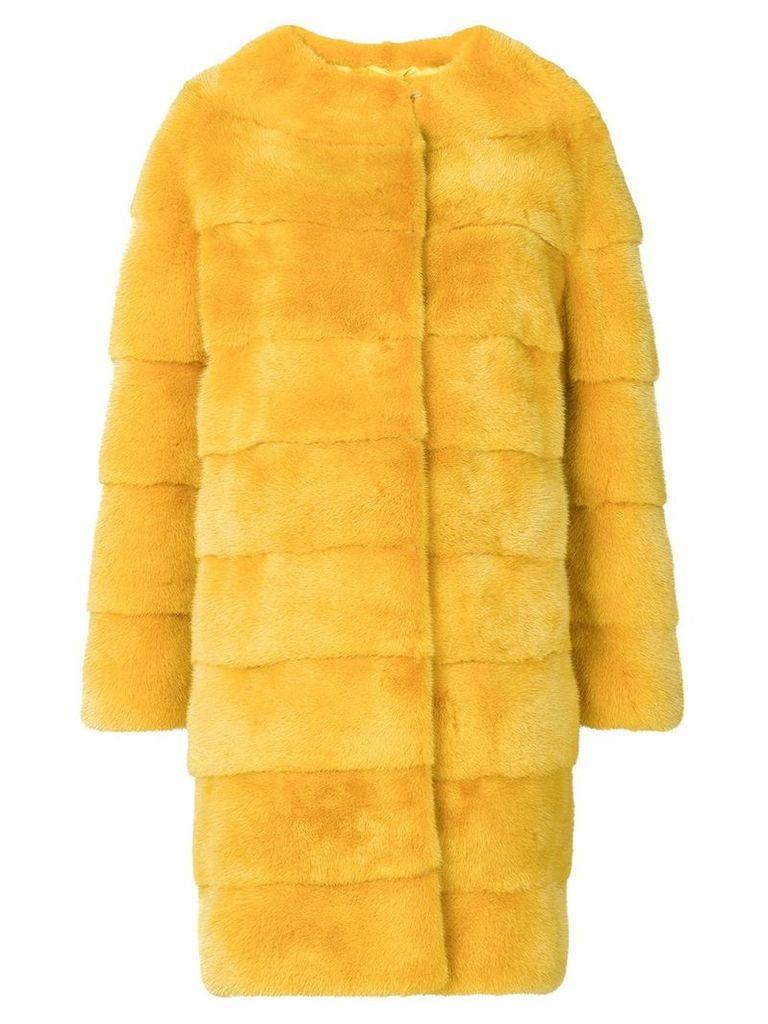 Liska Luce fur coat - Yellow