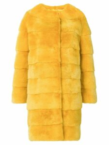 Liska Luce fur coat - Yellow