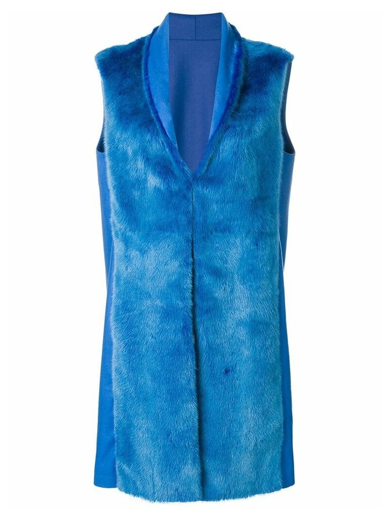 Liska sleeveless fur coat - Blue