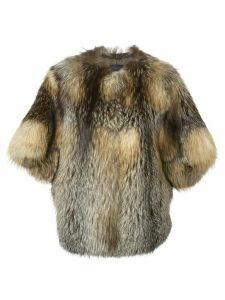 Liska three-quarter length sleeve coat - Brown