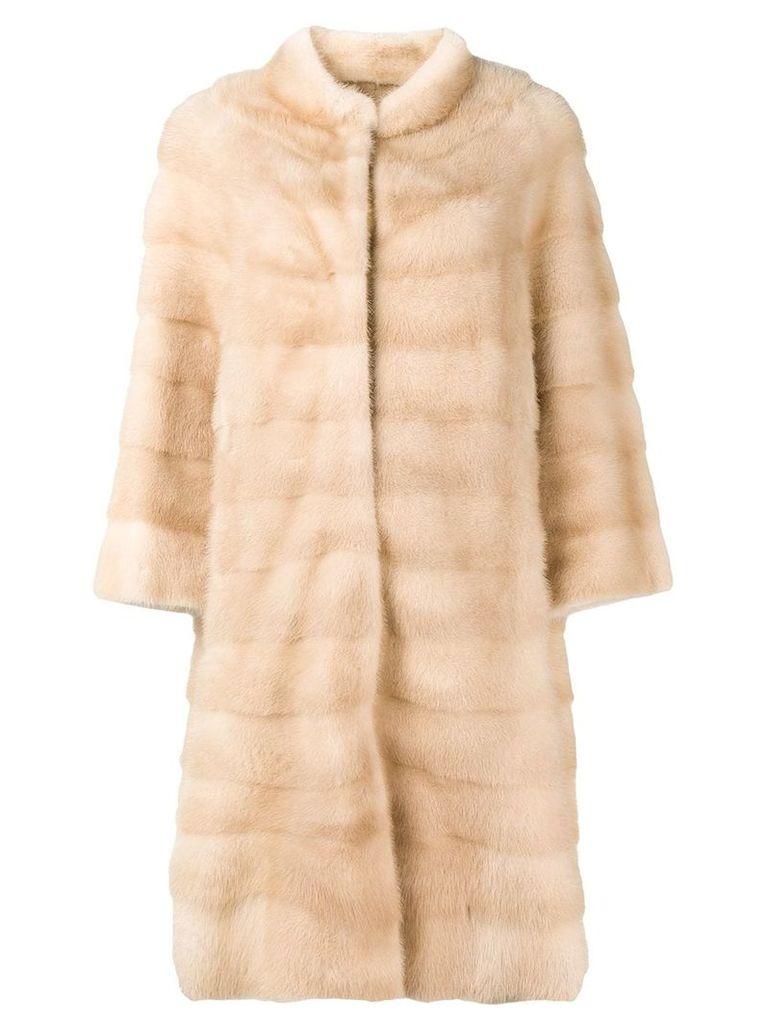 Liska Palinamai fur coat - Neutrals