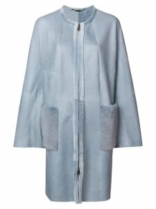 Manzoni 24 long sleeved winter coat - Blue
