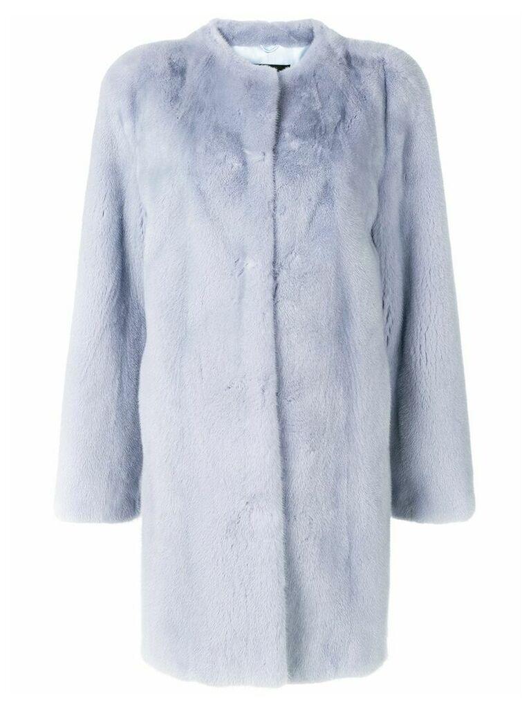 Liska long-sleeve coat - Blue