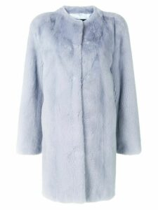 Liska long-sleeve coat - Blue