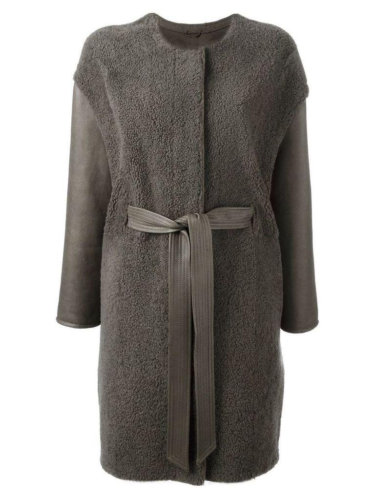 Liska belted coat - Green