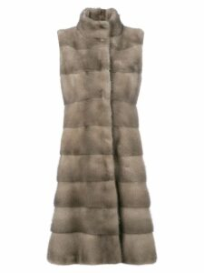 Liska padded fur coat - Neutrals