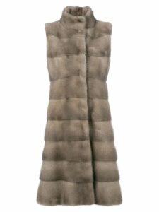 Liska padded fur coat - Neutrals