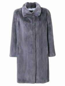 Liska mid-length fur coat - Grey