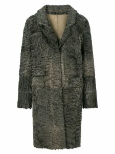 Liska textured single-breasted coat - Grey