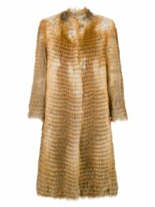 Liska long fur coat - Brown