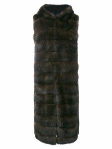 Liska Malottika long gilet - Black
