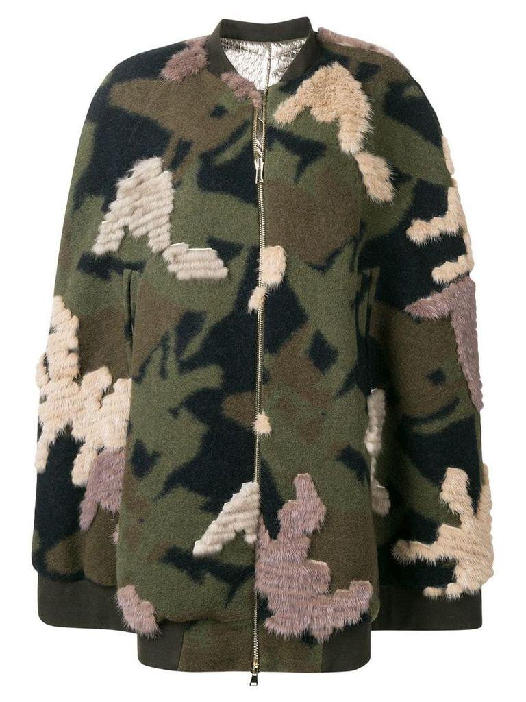 Liska military styled loose coat - Green