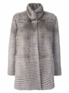 Liska panelled coat - Grey