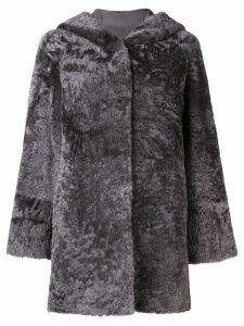 Drome hooded fur coat - Grey