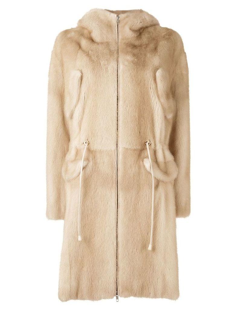 Liska Chantal coat - Neutrals