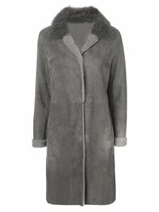 Liska fur collar coat - Grey