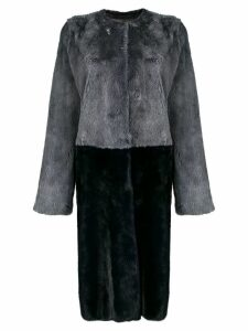 Liska two-tone fur coat - Grey