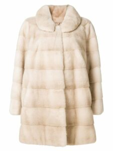 Liska midi fur coat - Neutrals