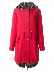 Liska fur lined parka - Red
