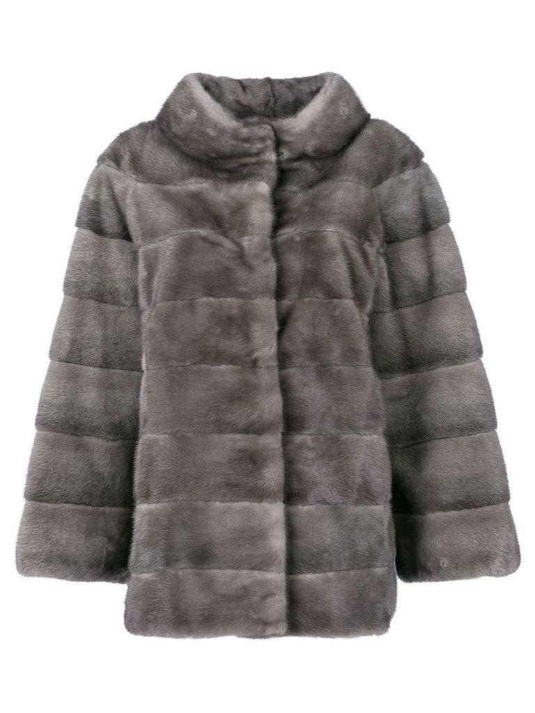 Liska fur padded coat - Grey