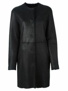 Liska single breasted shearling coat - Blue
