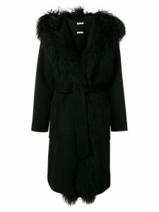 P.A.R.O.S.H. long fur coat - Black