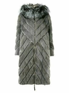 Liska padded hooded coat - Grey
