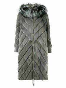 Liska padded hooded coat - Grey