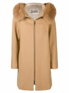 Herno fox fur coat - Neutrals