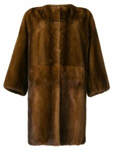 P.A.R.O.S.H. oversized fur coat - Brown
