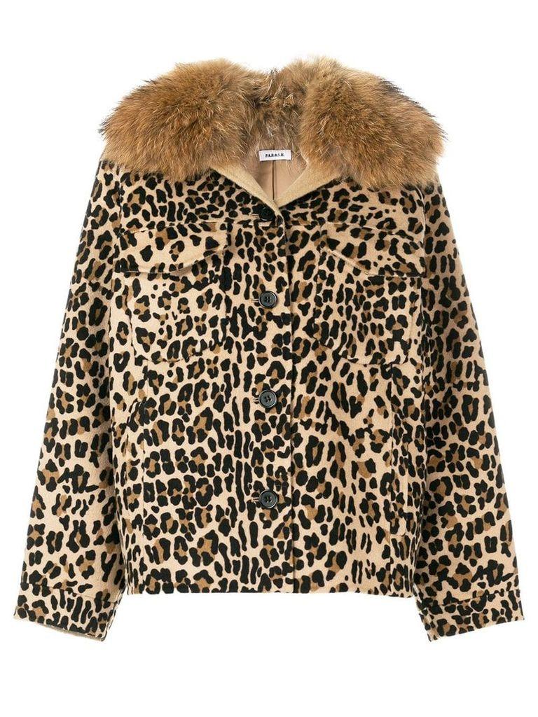 P.A.R.O.S.H. leopard print jacket - Brown