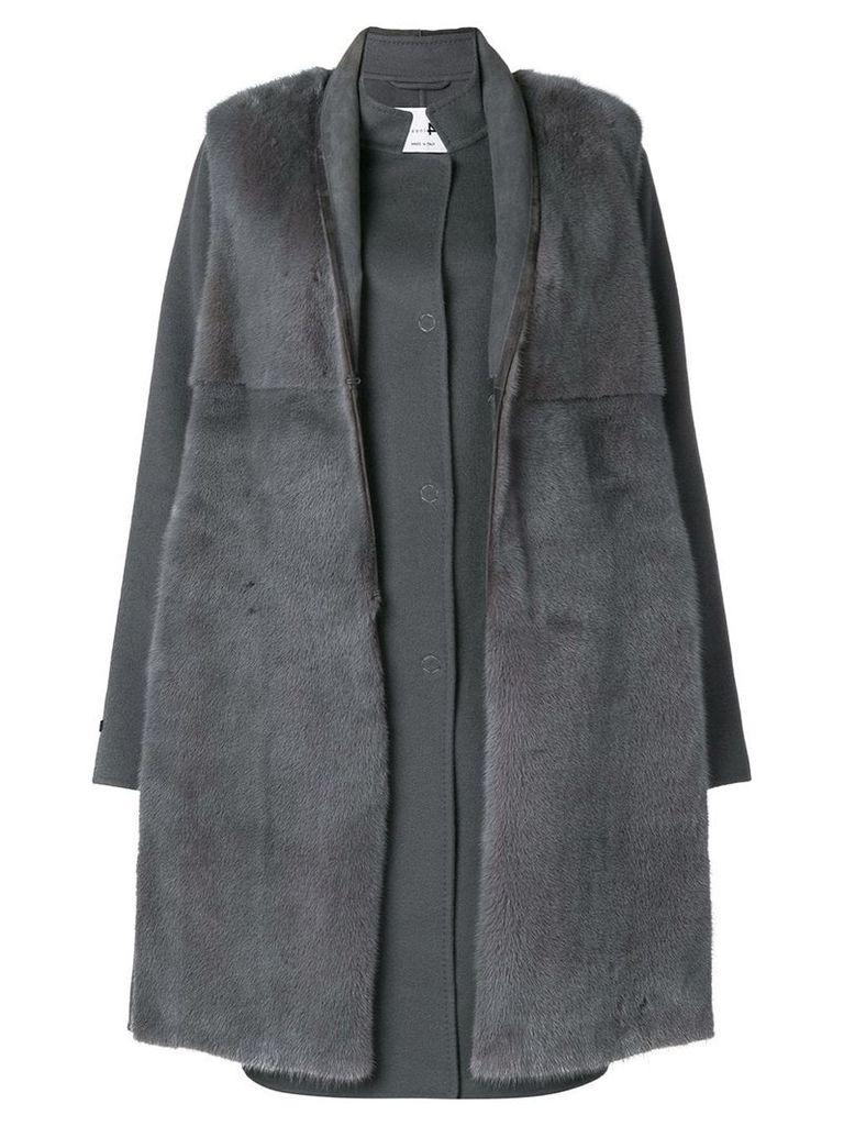 Manzoni 24 mink fur fitted coat - Grey