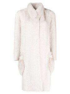 Liska concealed fastening coat - Neutrals