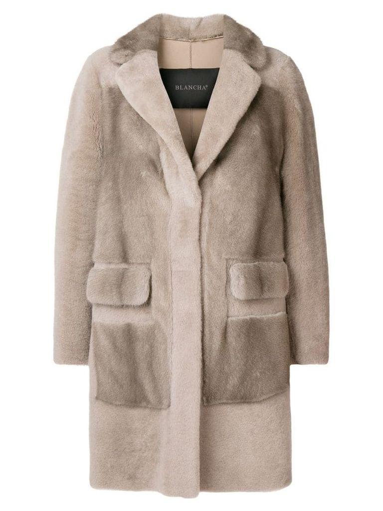 Blancha midi buttoned coat - Grey