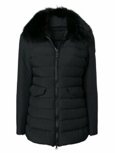 Peuterey padded fur coat - Black